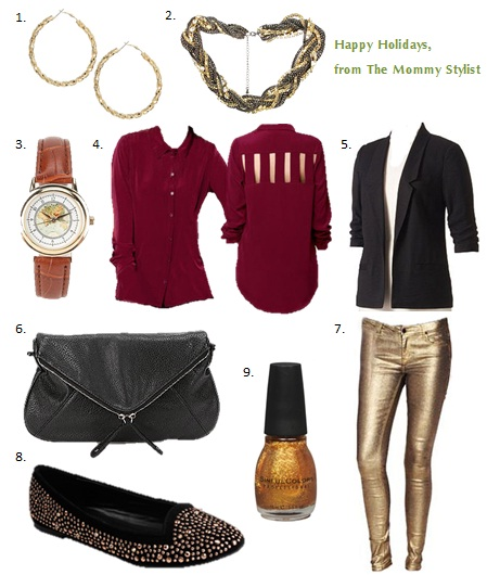 affordable fashion, Blazer, Blouse, budget fashion, budget shopping, budget style, cheap style, Christmas and holiday season, Clothing, Earring, fashion advice, fashion for moms, mom advice, mom style, mom stylist, skinny jeans, the mommy stylist, Urban Outfitters, What to wear Christmas day, Christmas, Yule, Hanukkah
