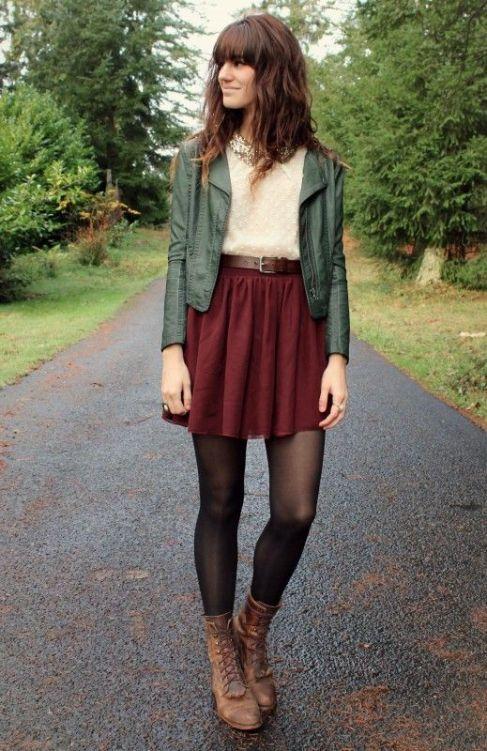 10 red skirt green jacket