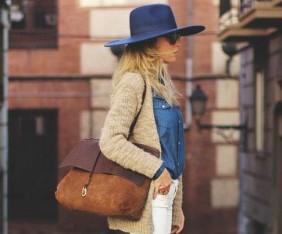 3 blue hat denim shirt
