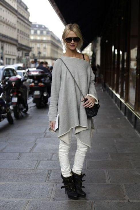 9 grey off shoulder sweater