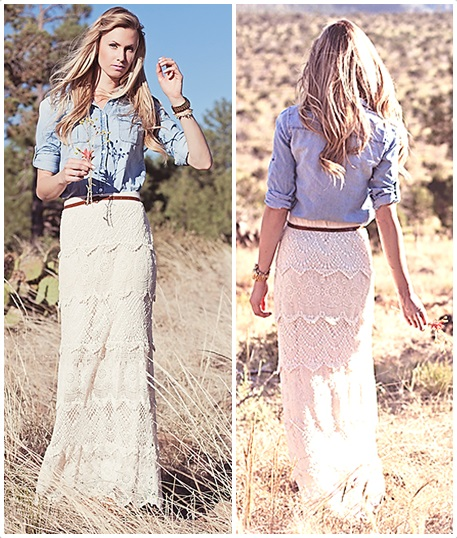 lace and chambray l WWW.MOMMYSTYLIST.COM #TheMommyStylist